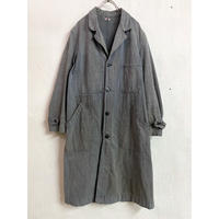 1950〜60's French vintage ブラックシャンブレー ワークコート(GRAY)[7463]