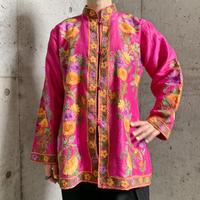 VINTAGE カシミール刺繍 ジャケット ピンク [9657]