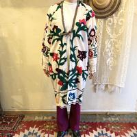 ウズベキスタンVINTAGE スザニ刺繍ガウン [9097]