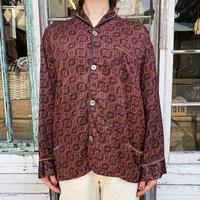 EURO vintage パジャマシャツ (BROWN) [7484]
