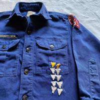 Boys vintage boy-scout L/shirt [M083]