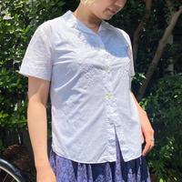 1940〜50s ボタニカル×リボン刺繍入り コットンシャツ [2250]