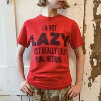 """used """"I'm not LAZY"""" Tシャツ [8920]"""
