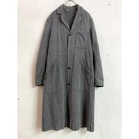 1950〜60's French vintage ブラックシャンブレー ワークコート(GRAY)[7464]