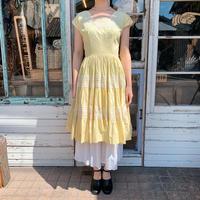 1950's Yellow Volume Patio Dress[1009]