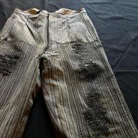 Vintage Euro work strip Pants [M090]