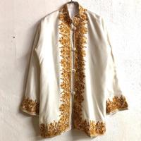 カシミール刺繍ジャケット(WHITE)[7296]