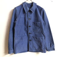 FRANCE WORK VINTAGE モールスキンカバーオール(BLUE)[7345]