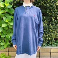 1990s「POLO Ralph Lauren」ネイビー ラガーシャツ[7628]