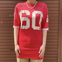 1960s HANES SPORTS 赤 ナンバリング フットボールTシャツ[2030]