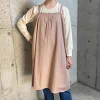 1920's antique 刺繍入り キャミソール ドレス(pink gray  overdyed)[2005]
