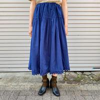 EURO vintage 裾レース後染めペチコートスカート (NAVY overdyed) [7680]