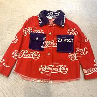 """【KIDS】VINTAGE """"PEPSI-COLA"""" プリントシャツ(RED)[7396]"""