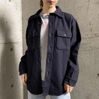 VINTAGE ネイビーカラーCPO ウールシャツ[8533]