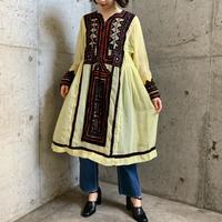 VINTAGEパキスタンバロチ刺繍シアー素材ドレス[9285]