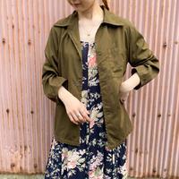 British military スリーピングシャツ(khaki overdyed) [9126]