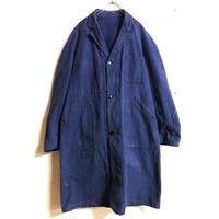 EURO WORK VINTAGE ロングジャケット(BLUE)[7370]
