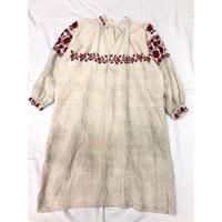 1900〜1920'S Antique ウクライナ刺繍ワンピース (BLACK×RED) [7123]
