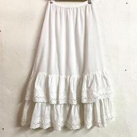 EURO VINTAGE ペチコートスカート (WHITE) [7436]