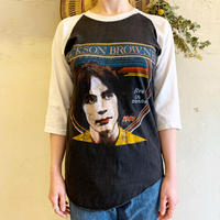 "1980'S VINTAGE JACKSON BROWNE ""LIVE in CONCERT"" Tシャツ(BLACK)[7112]"