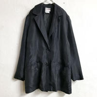 シルクジャケット(BLACK)[7234]