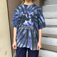 2005年製 the doors 紫系タイダイ バンドTシャツ[8675]
