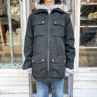 French military フィールドジャケット (BLACK overdyed) [7594]