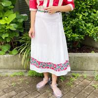 VINTAGEメキシコ サンアントニオ刺繍フレアスカート[2248]
