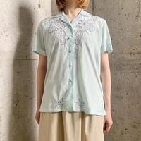 1960'S VINTAGE チャイナ刺繍 開襟シャツ[9478]