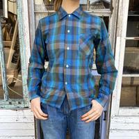 """1960s vintage japan made """"PARMANENT PRESS""""チェックシャツ [8649]"""