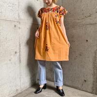VINTAGEメキシコ サンアントニオ刺繍ワンピース[9443]