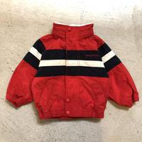 【KIDS】NAUTICA ロゴフード付ナイロンパーカー (RED) [7382]