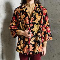 1950〜60'S VINTAGE ブラック×レッド系 ゴブラン織りジャケット[9923]