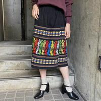 1970s vintage グアテマラ刺繍ラップスカート [9854]
