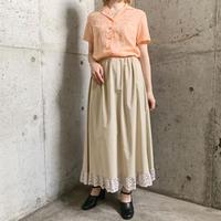 1960'S  VINTAGEチャイナ刺繍 開襟シャツ[9477]