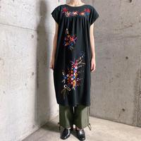 vintage メキシコ刺繍 ワンピース(BLACK overdyed)[9614]