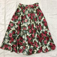 1950'S VINTAGE 花柄サーキュラースカート(WHITE)[7070]