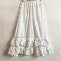 EURO VINTAGE ペチコートスカート (WHITE) [7435]