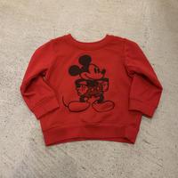 【KIDS】ミッキーマウスプリントスウェット(RED)[7429]