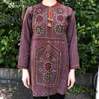 1970'S VINTAGE 東インド刺繍ドレス [9127]