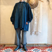 early 1900's  french indigo linen smock[7566]