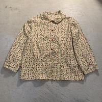 【KIDS】イチゴ柄ロングスリーブブラウス (BEIGE) [7440]