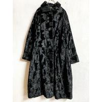 1960'S VINTAGE フェイクファーコート (BLACK) [7281]