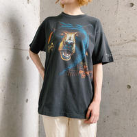 USA 「FROUT OF THE LOOM」グリズリー アニマルプリント Tシャツ[7866]