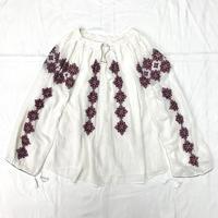 1950〜60'S VINTAGE ルーマニア刺繍チュニック (WHITE)  [7054]