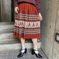 1970s vintage グアテマラ刺繍フレアスカート [9855]