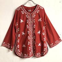 1970'S VINTAGE フィリピン刺繍ジャケット(RED)[7119]
