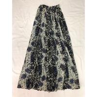 レオパード柄インドレーヨンスカート (BLACK)  [7103]