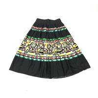 1950'S ヴィンテージ メキシコ民族柄スカート(BLACK)[7021]