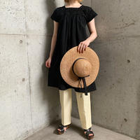 1970'S VINTAGE ブラック後染め サンアントニオ刺繍 ワンピース[9400]